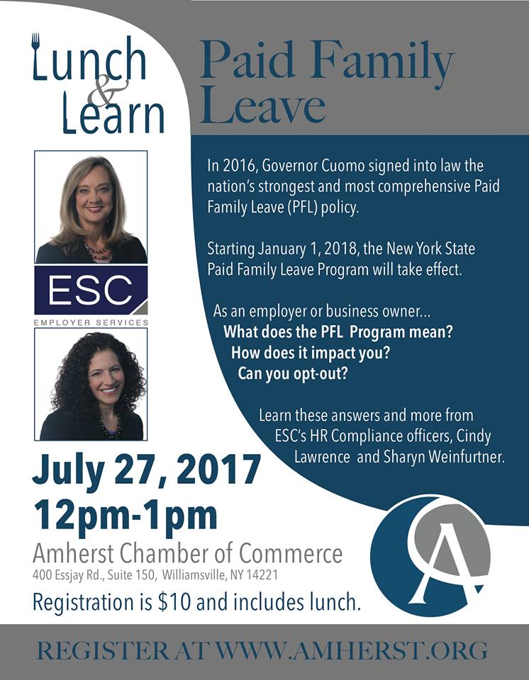Lunch & Learn NYS Paid Family Leave ESC PEO